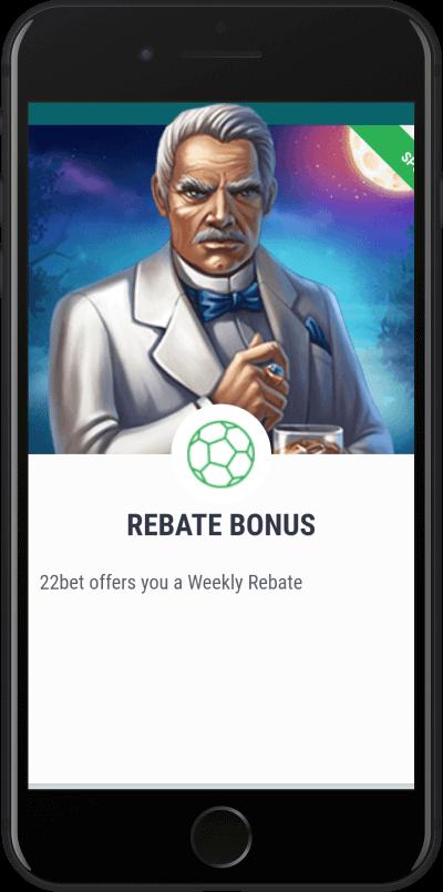 22bet tedenski bonus