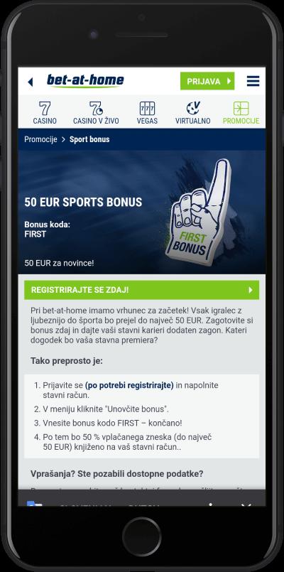 bet at home mobile bonus