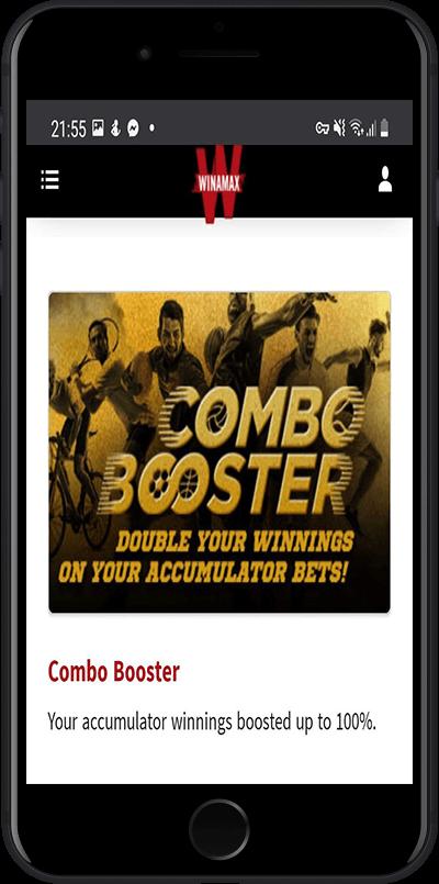 Winamax bonus combo booster